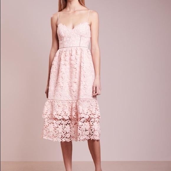 58c8d880b5da Club Monaco Dresses   Blush Lace Midi Dress   Poshmark